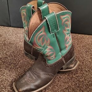 Justin Cowboy Boots - Turquoise